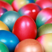Colorfully painted Easter eggs — Stock Photo