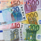 Present Euro banknotes — Stock Photo