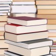 Colorful books in a stack — Stock Photo