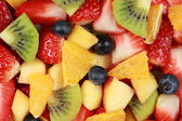 Pohled shora na ovocný salát — Stock fotografie