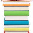 Opened book on a stack of books — Stock Photo #21906131