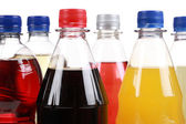 Bottles with soft drinks — Stock Photo