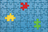 Missing pieces in a puzzle — Stock Photo