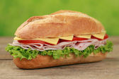 Sub Sandwich with ham — Stock Photo
