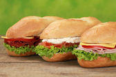 Sub Sandwiches — Stock Photo