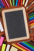 Tableau noir avec un espace pour votre propre texte — Photo