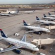 US Airways aircraft at Phoenix Sky Harbor Airport — Stock Photo