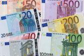 Tüm yedi euro banknot — Stok fotoğraf