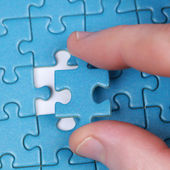 Hand with Puzzle — Stock Photo