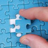 рука с головоломка — Стоковое фото