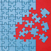 Concept finishing a jigsaw puzzle — Stock Photo