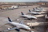 US Airways aircraft at Phoenix Sky Harbor Airport — Stock Photo
