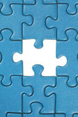 The last missing piece in a jigsaw puzzle — Stock Photo