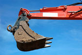 Bucket of an excavator — Stock Photo