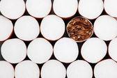 Filtr cigarety pozadí — Stock fotografie