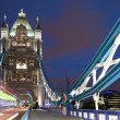 London Tower Bridge at night — Stock Photo