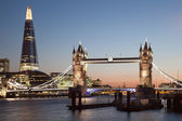 London Tower Bridge and The Shard — Stock Photo