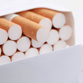 Closeup of cigarettes — Stock Photo