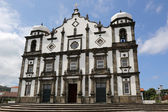 Church on the island of Flores Azores Portugal — Stock Photo
