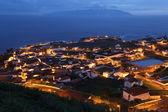 Panorama de la isla de corvo azores portugal en la noche — Foto de Stock
