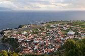 Panorama de la isla de corvo azores — Foto de Stock