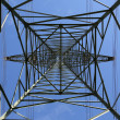 Electricity pylon from below — Stock Photo