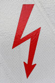 Symbol flash high voltage — Stock Photo
