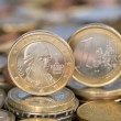 One Euro coin from Austria with Mozart — Stock Photo