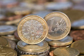 One Euro coin from Portugal — Stockfoto