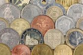 Coins from all over the world — Stock Photo