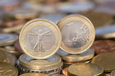 One Euro coin from Italy — Stock Photo