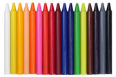 Crayons for children in a row, isolated — Foto Stock