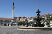 Rossio square in Lisbon Portugal — Stock Photo