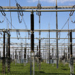 Постер, плакат: Electrical substation with transformers energy and electricity t