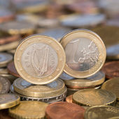 One Euro coin Ireland Eire — Stock Photo