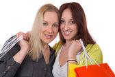 Friends having fun while shopping — ストック写真