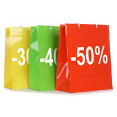 Shopping bags with discounts or special offer during sale — Foto de Stock