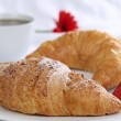 Croissants and coffee for breakfast — Stock Photo #45764935