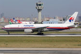 Malaysia Airlines Boeing 777-200 sister aircraft of plane missin — Stock Photo