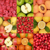 Collection of fresh fruits — Stockfoto