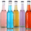 Colorful soda drinks with cola in bottles — Stock Photo #49431317