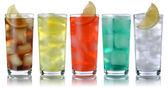 Soda drinks with cola and lemonade — Zdjęcie stockowe