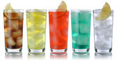 Soda drinks with cola and lemonade — Stockfoto