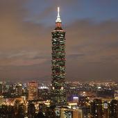 Mrakodrap taipei 101 na taiwanu — Stock fotografie