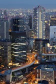 Osaka Japan Skyline — Stock Photo