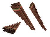 Zampona eller flöjt isolerade — Stockfoto