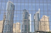Reflection of skyscrapers — Stock Photo