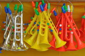 Toy trumpets — Stock Photo