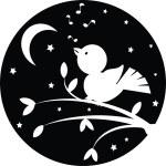 fundo de noite com pássaro — Foto Stock