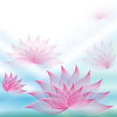 Background with lotuses — Stock Vector